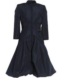 Oscar de la Renta - Gathered Silk-satin Mini Dress - Lyst