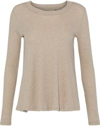 Enza Costa - Woman Cotton And Cashmere-blend Jersey Top Neutral - Lyst