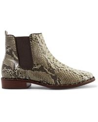 Schutz - Shabba Embellished Snake-effect Leather Ankle Boots - Lyst