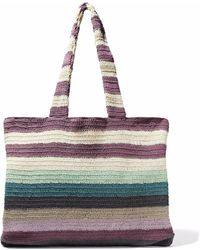 Mara Hoffman - Striped Crocheted Cotton Tote - Lyst