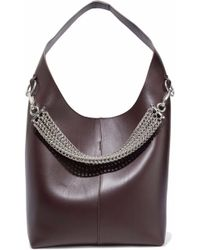 Alexander Wang - Woman Genesis Chain-detailed Leather Tote Burgundy Size -- - Lyst