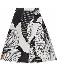 Vionnet - Metallic Pleated Jacquard Mini Skirt - Lyst