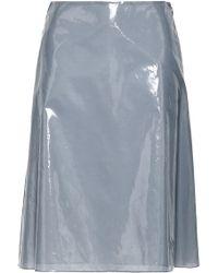 Jil Sander - Woman Vinyl Skirt Gray - Lyst