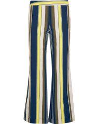 Zeus+Dione - Rhodia Cropped Striped Slub Silk Wide-leg Pants - Lyst