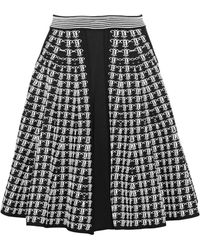 Emilio Pucci - Fluted Jacquard-knit Skirt - Lyst