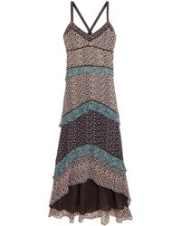 Proenza Schouler - Tiered Printed Silk-georgette Maxi Dress - Lyst