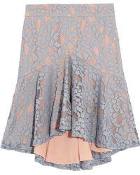 Alexis - Braxten Ruffled Corded Lace Skirt - Lyst