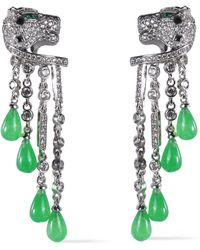CZ by Kenneth Jay Lane - Silver-tone, Resin And Crystal Earrings - Lyst