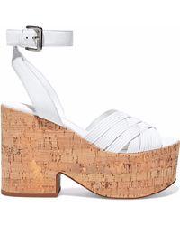 Sigerson Morrison - Becca Leather Platform Sandals - Lyst