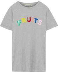 Être Cécile - Printed Mélange Cotton-jersey T-shirt - Lyst