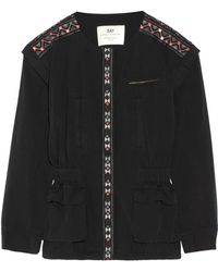 Day Birger et Mikkelsen - Monsoon Convertible Embroidered Washed-cotton Jacket - Lyst