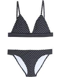 Iris & Ink - Striped Triangle Bikini - Lyst