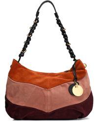 See By Chloé - Maddie Color-block Suede Shoulder Bag - Lyst