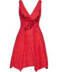Marchesa notte - Floral-appliqu�d Layered Chiffon Dress - Lyst