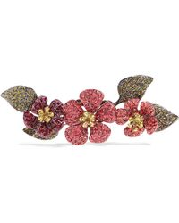 Valentino - Hawaiian Couture Crystal, Gold-tone And Gunmetal-tone Brooch -  Lyst a46be15498e