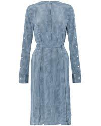 Robert Rodriguez - Belted Striped Silk Shirt Dress - Lyst