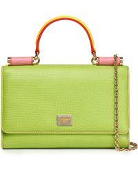 Dolce & Gabbana - Von Color-block Textured-leather Shoulder Bag - Lyst