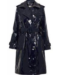 Diane von Furstenberg - Patent-leather Trench Coat - Lyst