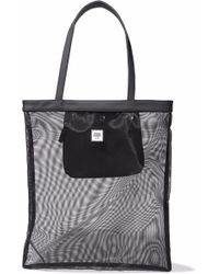 Opening Ceremony - Faux Leather-trimmed Mesh Tote - Lyst