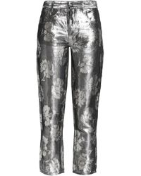 Maison Margiela - Metallic Jacquard Skinny Trousers - Lyst