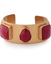 Kate Spade - Woman Gold-tone Crystal Bracelet Magenta - Lyst