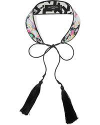 Etro - Tasseled Floral-print Silk Crepe De Chine Collar - Lyst
