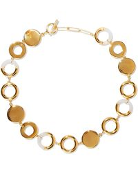Noir Jewelry - Steady Glow 14-karat Gold-plated Resin Necklace Gold - Lyst