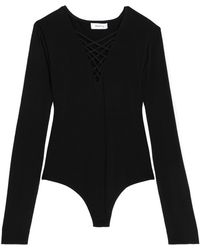 Bailey 44 - Lattice-trimmed Stretch-jersey Bodysuit - Lyst