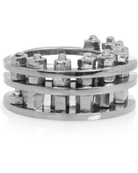 Eddie Borgo - Expansion Joint Gunmetal-plated Ring - Lyst