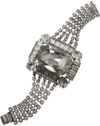 Tom Binns - Rhodium-plated Crystal Bracelet - Lyst