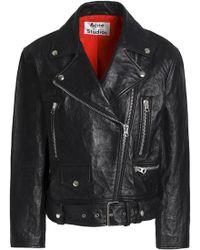 Acne Studios - Leather Biker Jacket - Lyst