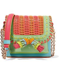 Sophia Webster - Claudie Tassel Woven Leather Crossbody Bag - Lyst