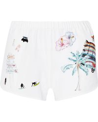MIRA MIKATI | Printed Stretch-crepe Shorts | Lyst
