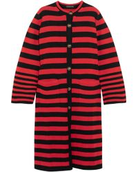 Etro - Striped Knitted Cardgian - Lyst