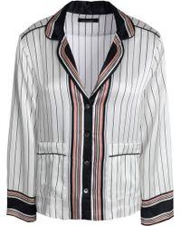Equipment - Striped Silk-satin Pjama Top - Lyst