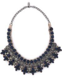 Valentino - Gunmetal-tone Crystal Necklace - Lyst