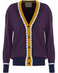 ROKSANDA - Scalloped Wool Cardigan - Lyst