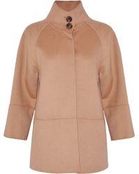 Carolina Herrera - Wool, Angora And Cashgora-blend Coat - Lyst