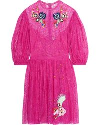 Temperley London - Leo Embroidered Lace Mini Dress - Lyst