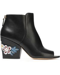 Tory Burch - Embellished Leather Ankle Boots - Lyst