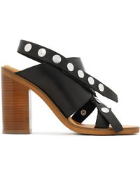 MM6 by Maison Martin Margiela - Studded Leather Sandals - Lyst