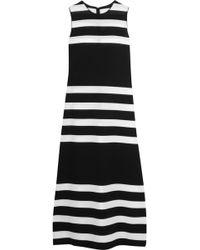 CALVIN KLEIN 205W39NYC - Striped Stretch-knit Dress - Lyst
