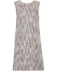 Oscar de la Renta - Cotton-blend Tweed Mini Dress - Lyst