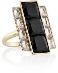 Kelly Wearstler - Rexford Gold-plated, Onyx And Crystal Ring - Lyst