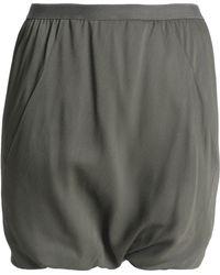 Rick Owens - Gathered Crepe Shorts - Lyst