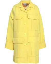 556f6614580d Emilio Pucci - Woman Cotton-blend Jacquard Coat Pastel Yellow - Lyst