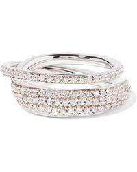 Tom Binns - Silver-tone Crystal Ring - Lyst