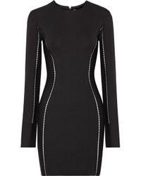 Dion Lee - Open Knit-trimmed Jersey Mini Dress - Lyst