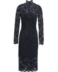 Ganni Flynn Lace Dress Black