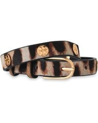 Tory Burch - Gold-tone And Leopard-print Calf Hair Wrap Bracelet - Lyst